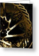 Bike Brake Greeting Card by Angie Wingerd