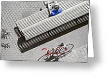 Bike Break Greeting Card