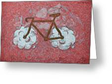 Bike-cloud Red - Da Greeting Card