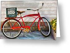 Bike - Delivery Bike Greeting Card by Mike Savad