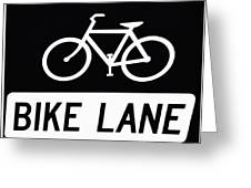 Bike Lane Greeting Card