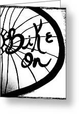 Bike On Greeting Card