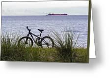 Bike On The Bay Greeting Card
