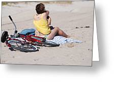Bike On The Beach Greeting Card