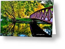 Bike Path Bridge Greeting Card
