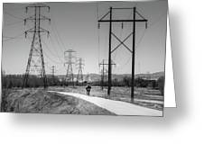Bike Power On Platte Trail Greeting Card