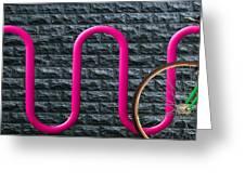 Bike Rack Greeting Card by Paul Wear