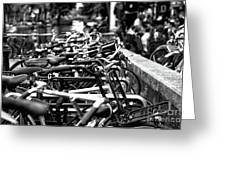 Bike Row Mono Greeting Card