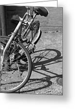 Bike Shadow Greeting Card