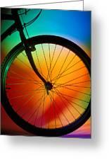 Bike Silhouette Greeting Card by Garry Gay