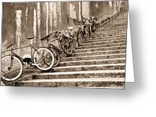 Bike Stairs Zurich Greeting Card