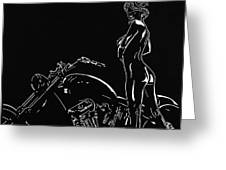 Biker Biach Greeting Card