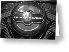 Biker Blues Greeting Card