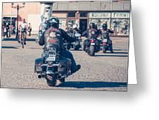 Bikers In Gdansk Greeting Card