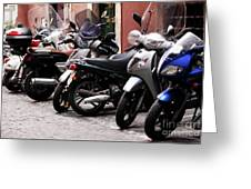 Bikes And Scooters Greeting Card