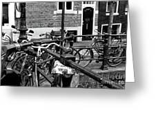 Bikes Hanging Out Mono Greeting Card