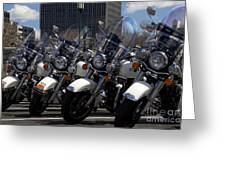 Bikes In Blue Greeting Card
