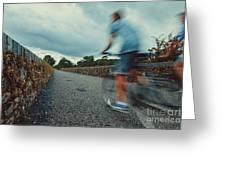 Bikes In Motion Near Durrow 1 Greeting Card