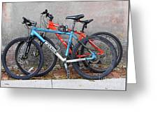Bikes Left Alone Greeting Card