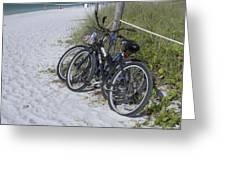 Bikes On The Beach Greeting Card