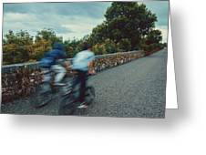 Bikes On The Deise Greenway 2 Greeting Card