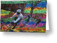 Biking In Mn  Greeting Card