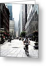 Biking The Streets Of New York City Greeting Card