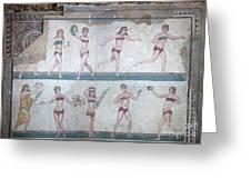 Bikini Girls Mosaic Greeting Card