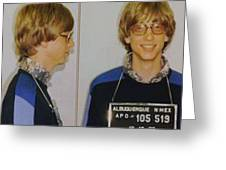 Bill Gates Mug Shot Horizontal Color Greeting Card