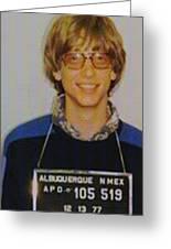 Bill Gates Mug Shot Vertical Color Greeting Card
