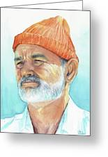 Bill Murray Steve Zissou Life Aquatic Greeting Card