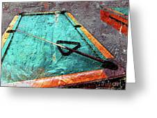Billiards Art-pool Table Greeting Card