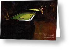 Billiards Ballet Greeting Card