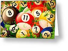 Billiards Collage Greeting Card