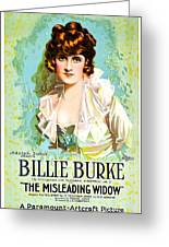 Billie Burke In The Misleading Widow 1919 Greeting Card