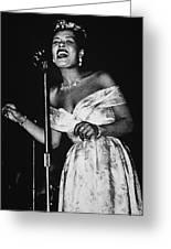 Billie Holiday Greeting Card by American School