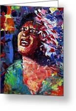 Billie Holiday Live Greeting Card