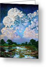Billowing Clouds Greeting Card
