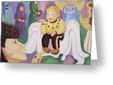 Billy As Baby Jesus Greeting Card