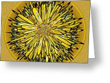 Billy Jean -- Floral Disk Greeting Card