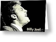 Billy Joel Poster Greeting Card