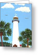 Biloxi Lighthouse Painting Greeting Card