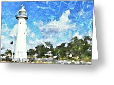 Biloxi Lighthouse Greeting Card
