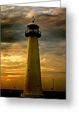 Biloxi Lighthouse Greeting Card by Scott Pellegrin