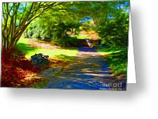 Biltmore Mansion Walking Path Greeting Card