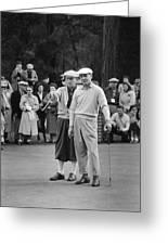 Bing Crosby And Ben Hogan Greeting Card