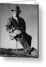 Bing Crosby Pebble Beach Bw Greeting Card