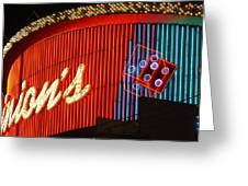 Binions Casino  Greeting Card