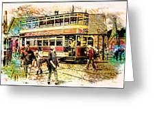Binns Tram 1 Greeting Card