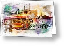 Binns Tram 2 Greeting Card